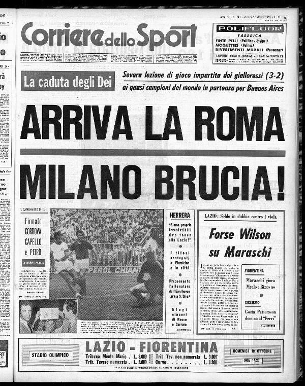 Corriere dello Sport 1969