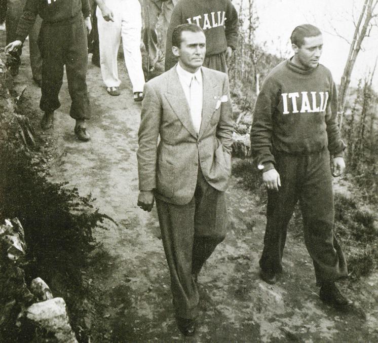 Monzeglio e Meazza in ritiro in montagna prima dei Mondiali 1938