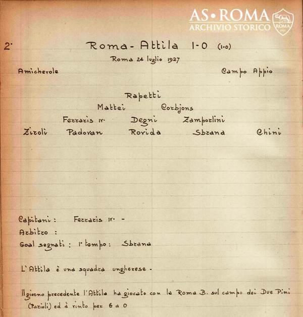 Roma Attila 1927