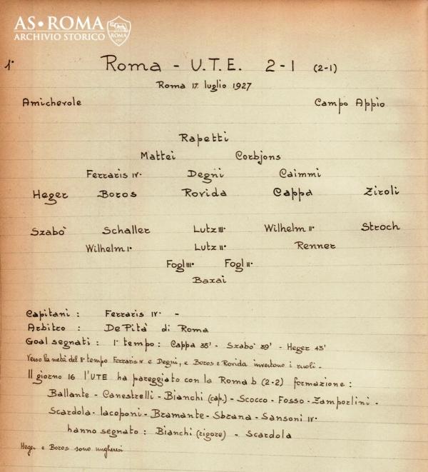 Roma Ute Budapest 1927