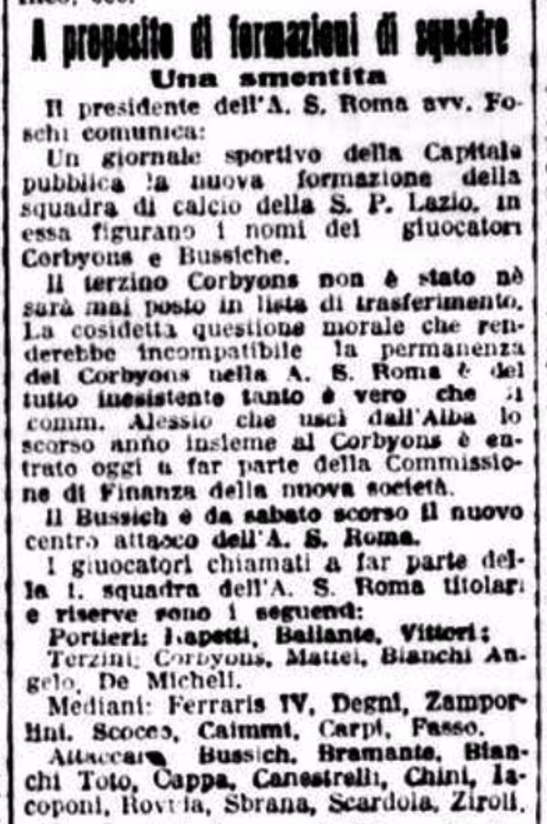 Roma rosa 1927-28