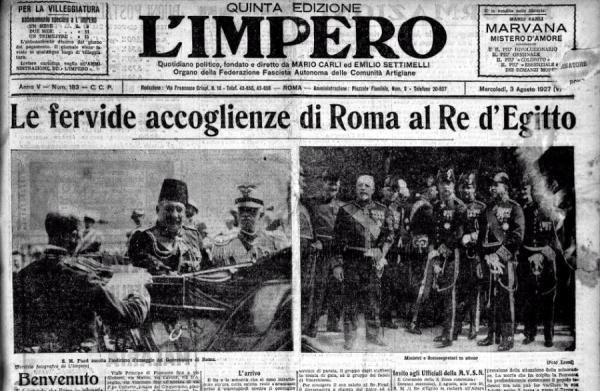 Re Fuad I a Roma