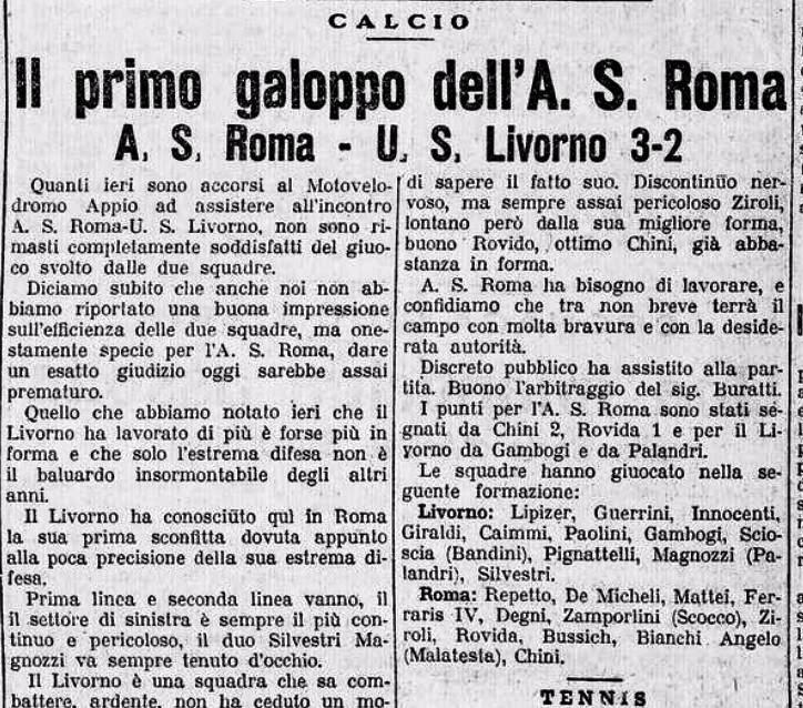 Roma-Livorno 1927