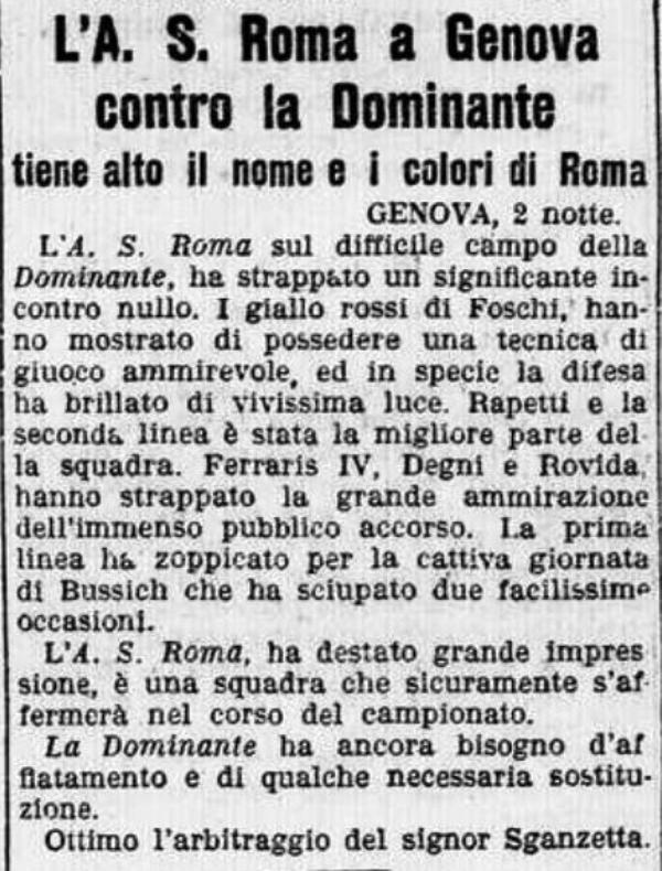 Dominante Roma 1927