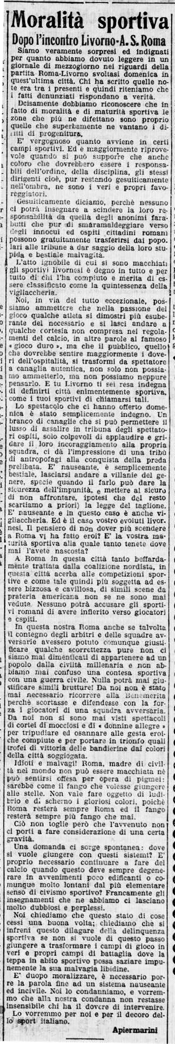 Livorno-Roma 1927-28