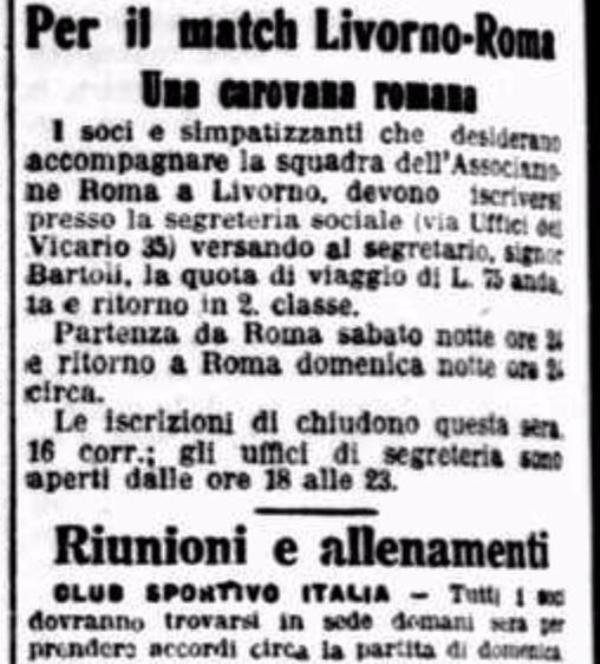 Livorno Roma 1927