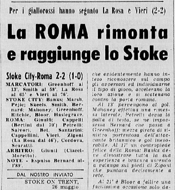 Stoke City Roma
