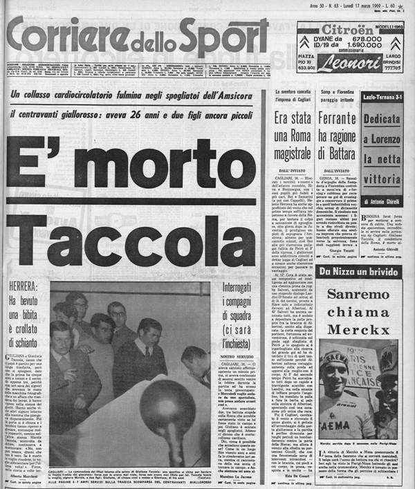 Giuliano Taccola morto