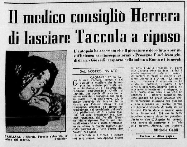 Giuliano Taccola morte