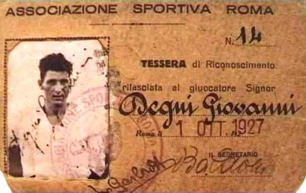 Giovanni Degni tessera